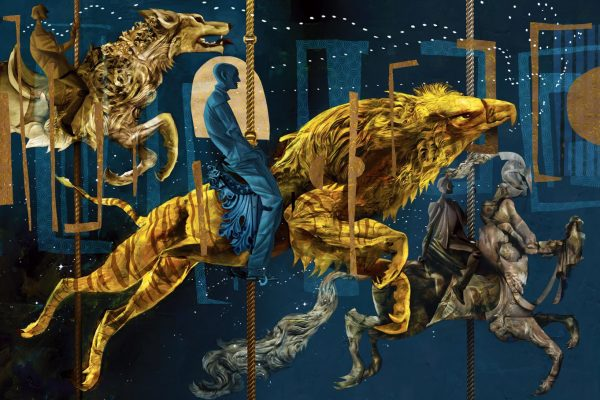 """Dave McKean illustrates the new edition of the fantasy masterpiece """"American Gods"""""""