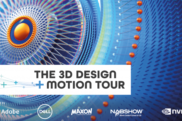 The 3D Design + Motion Tour, a unique event in 26 cities with top 3D artists